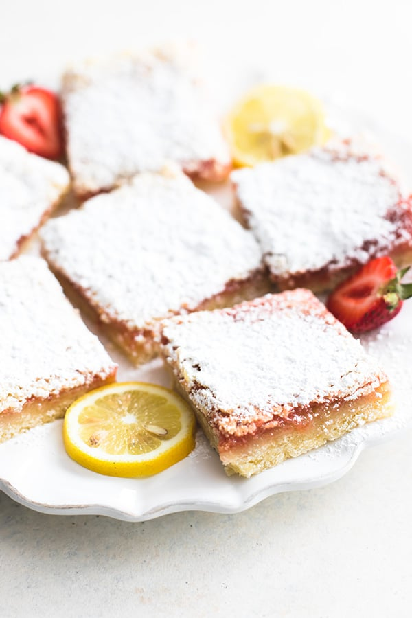 Strawberry Lemon Bars - Creme De La Crumb