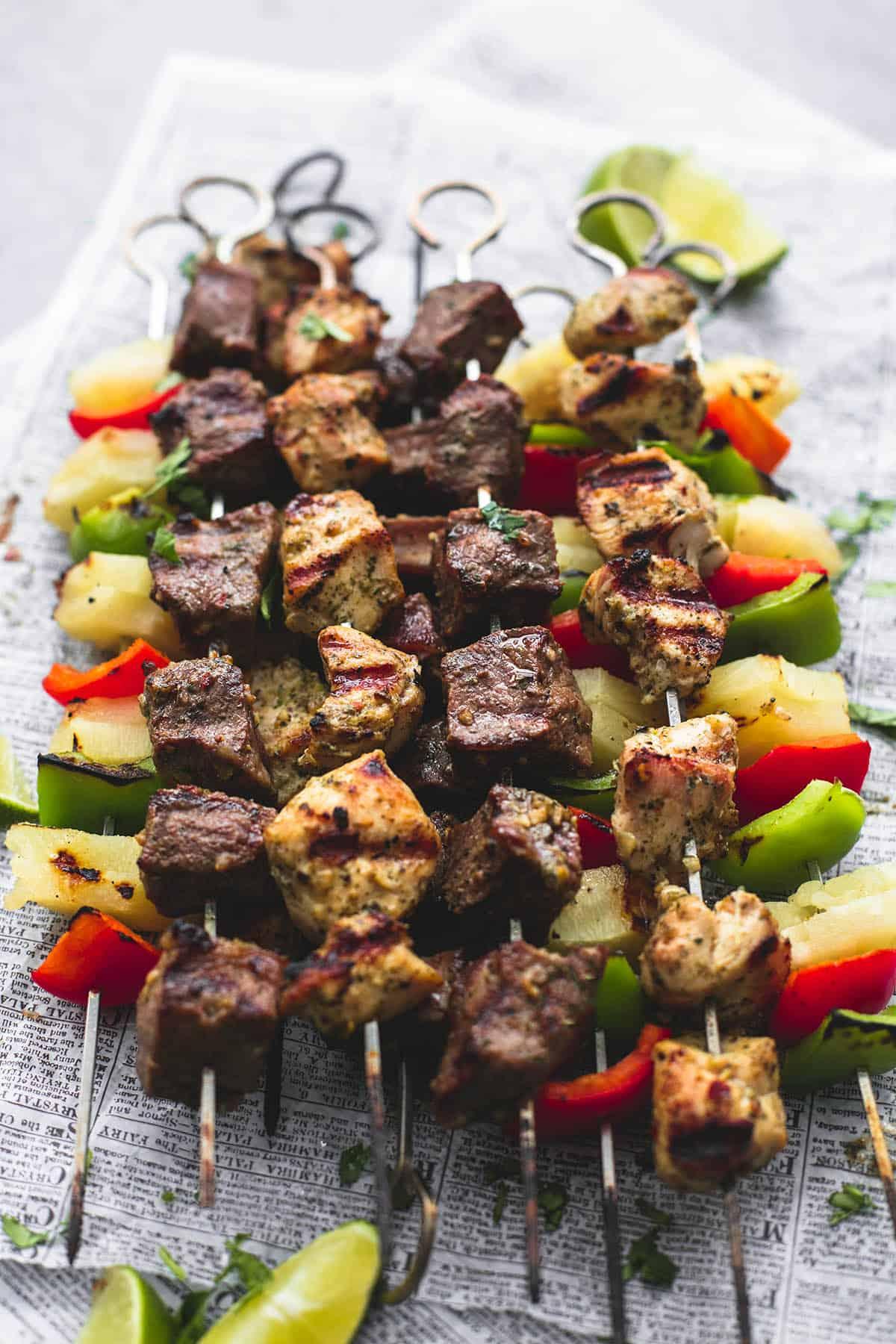 How long do i grill chicken kabobs - Brazilian Steak Chicken Kabobs Lecremedelacrumb Com