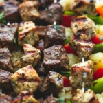 Grilled Brazilian Steak & Chicken Kabobs