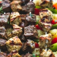 Brazilian Steak & Chicken Kabobs | lecremedelacrumb.com