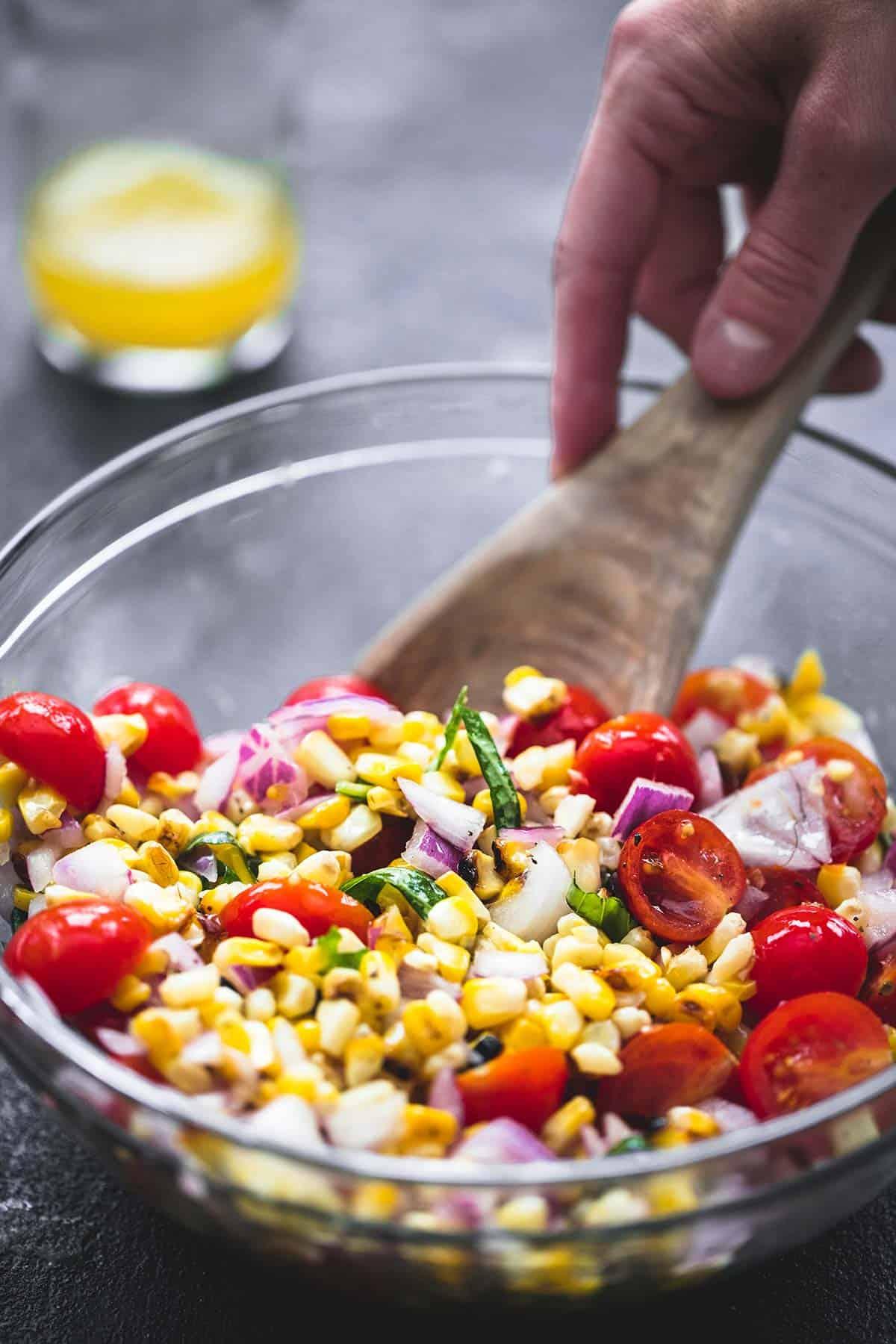 Grilled Corn Salad | lecremedelacrumb.com