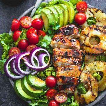 Grilled Teriyaki Chicken Salad | lecremedelacrumb.com