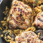 One Pot Mushroom Herb Chicken Orzo