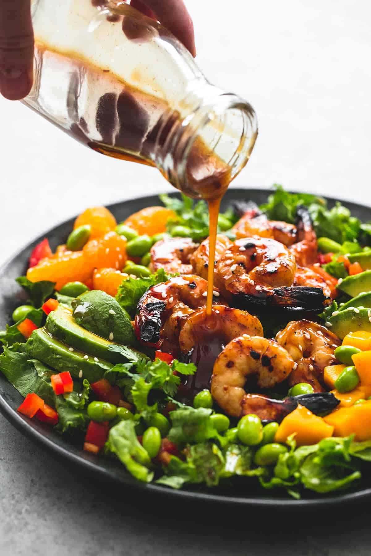 Mango Mandarin Sesame Shrimp Salad | lecremedelacrumb.com