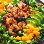 Mango Mandarin Sesame Shrimp Salad