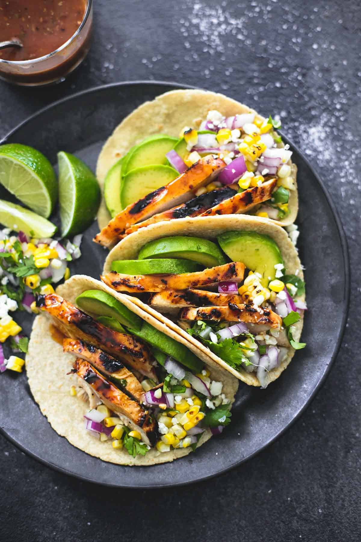 The Best Grilled Chicken Tacos (Marinade) | lecremedelacrumb.com