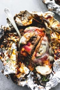 Grilled Smothered BBQ Chicken Foil Packs | lecremedelacrumb.com