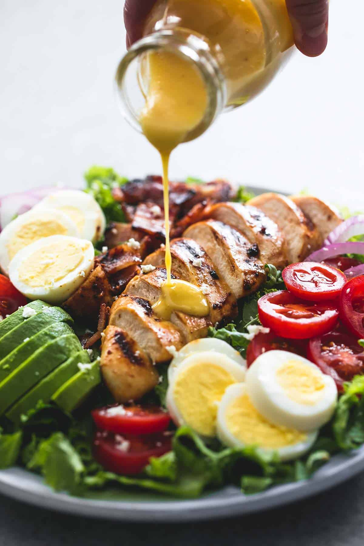Honey Mustard Chicken Cobb Salad | lecremedelacrumb.com