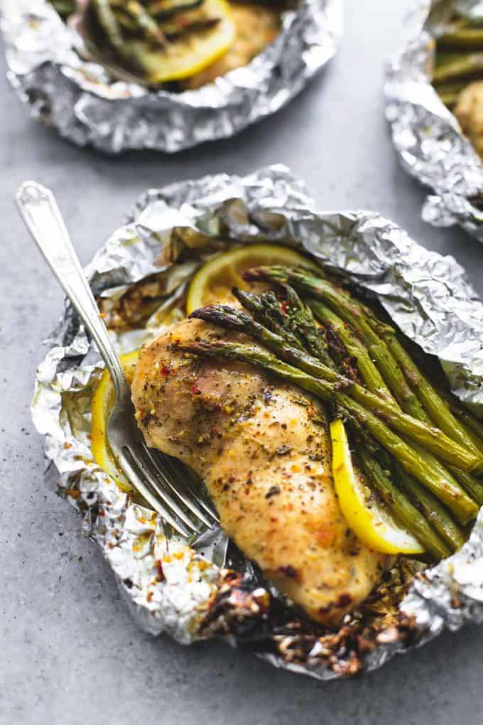 Lemon Chicken and Asparagus Foil Packs | Easy 30-Minute Meals to Cook Every Night | Homemade Recipes