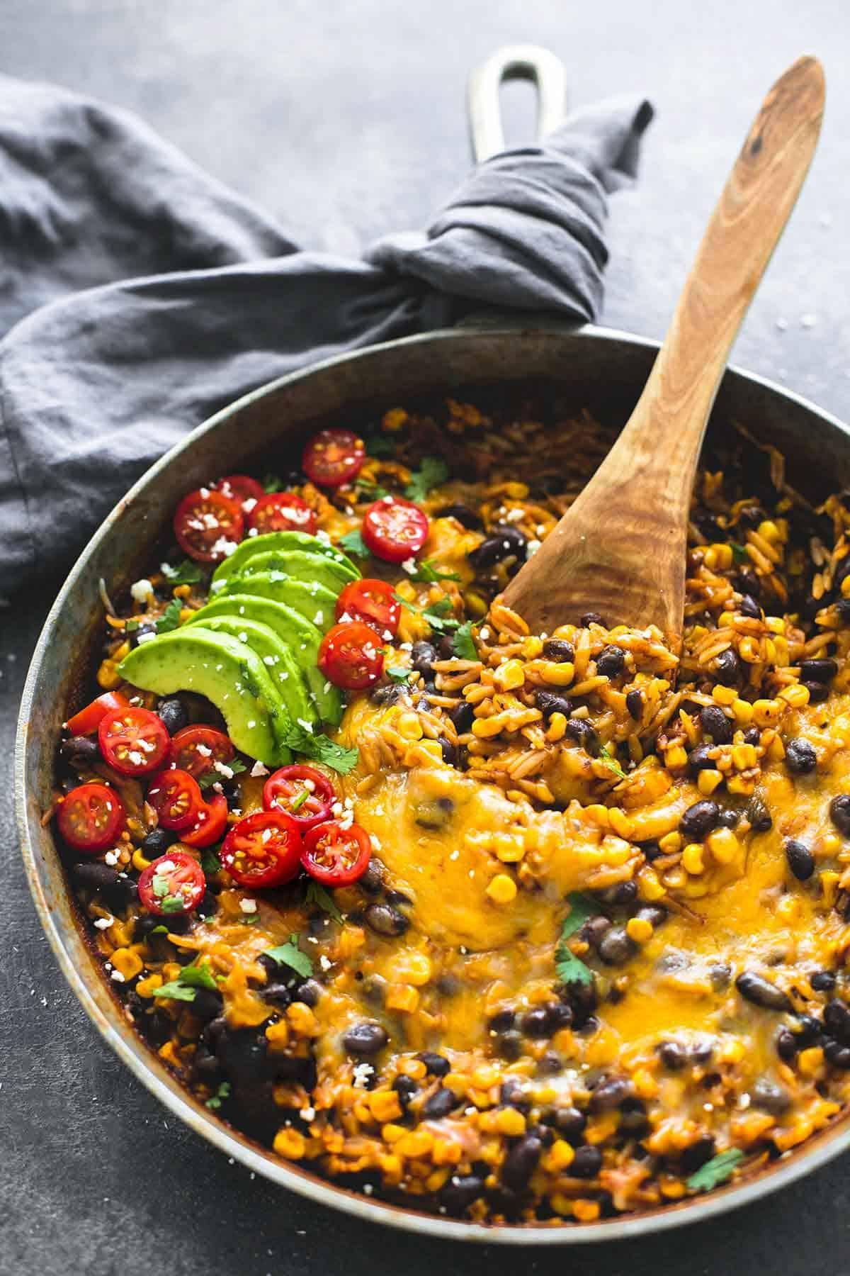One Pot Enchilada Orzo | lecremedelacrumb.com