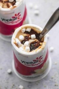Peanut Butter S'mores Yogurt | lecremedelacrumb.com