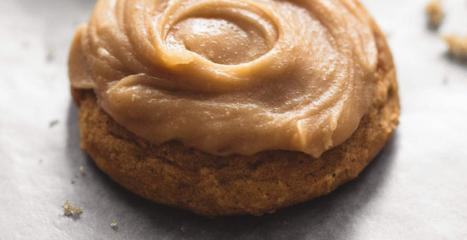 Pumpkin Cookies With Brown Sugar Frosting
