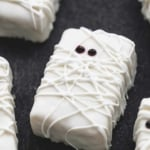 Rice Krispie Treat Mummies | lecremedelacrumb.com