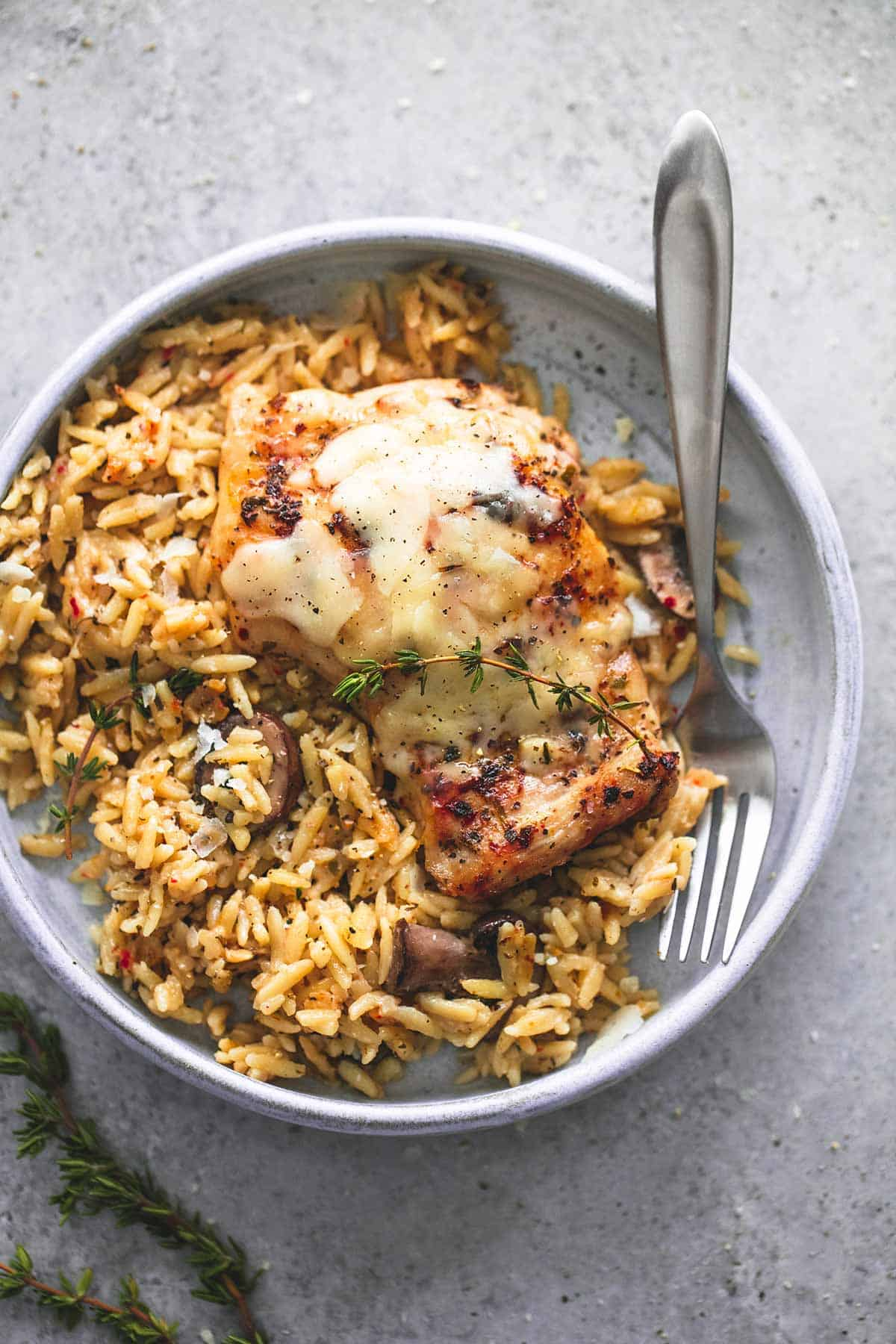 Slow cooker parmesan herb chicken & orzo is an easy, no-fuss crockpot ...