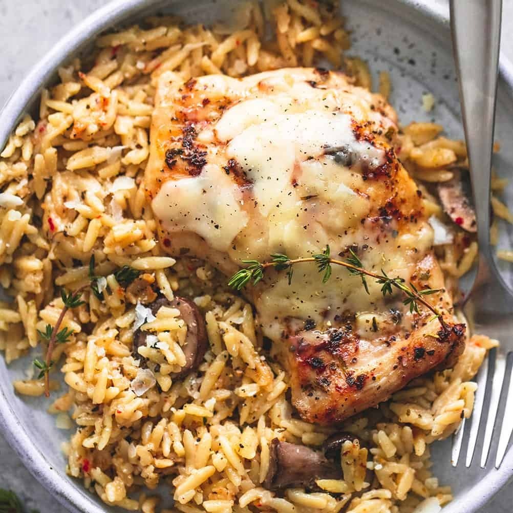 Crockpot Chicken Recipes Easy: Slow Cooker Parmesan Herb Chicken & Orzo