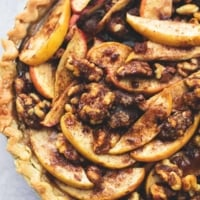 Brown Sugar Walnut Apple Pie   lecremedelacrumb.com