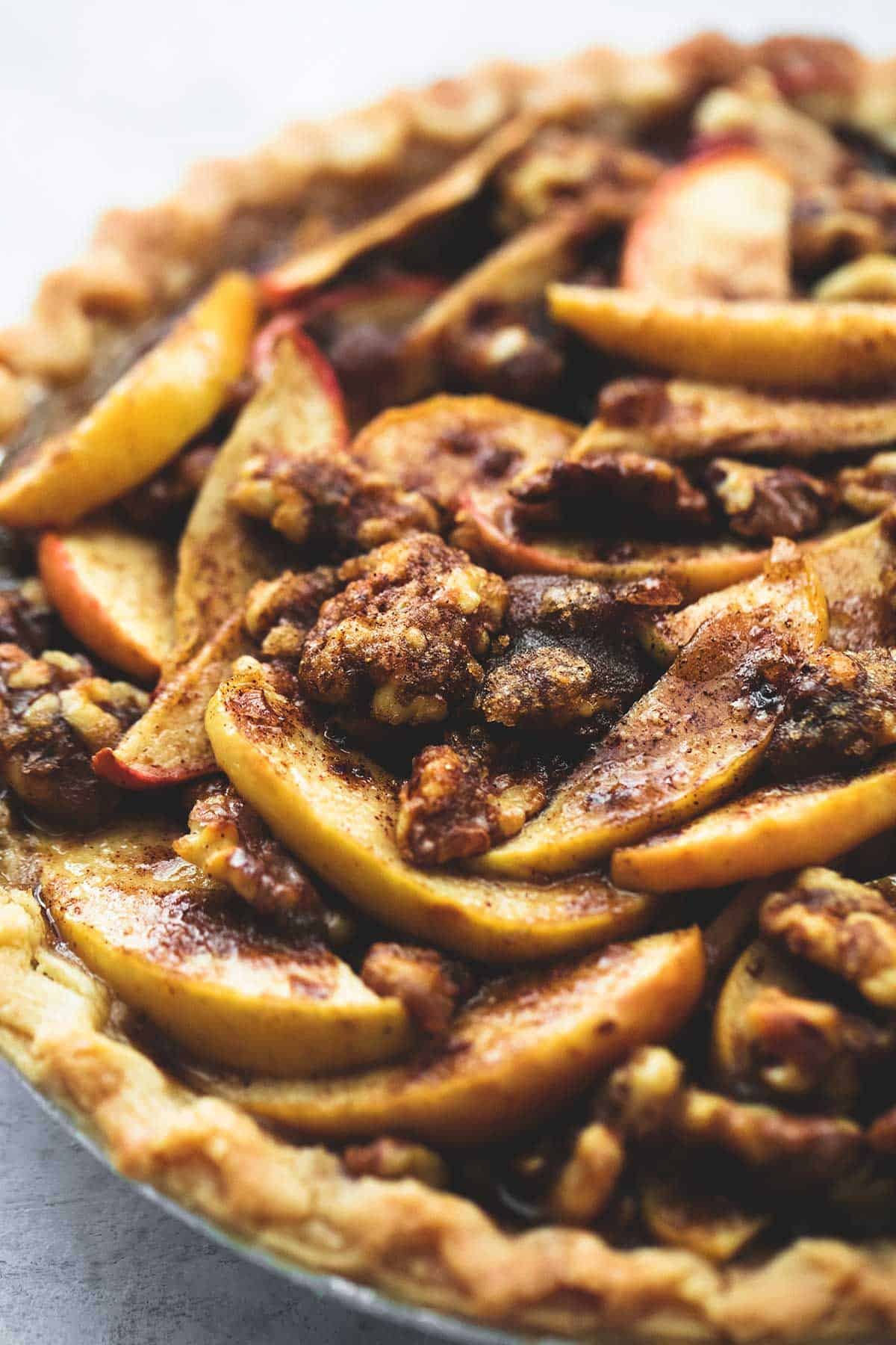 Brown Sugar Walnut Apple Pie | lecremedelacrumb.com