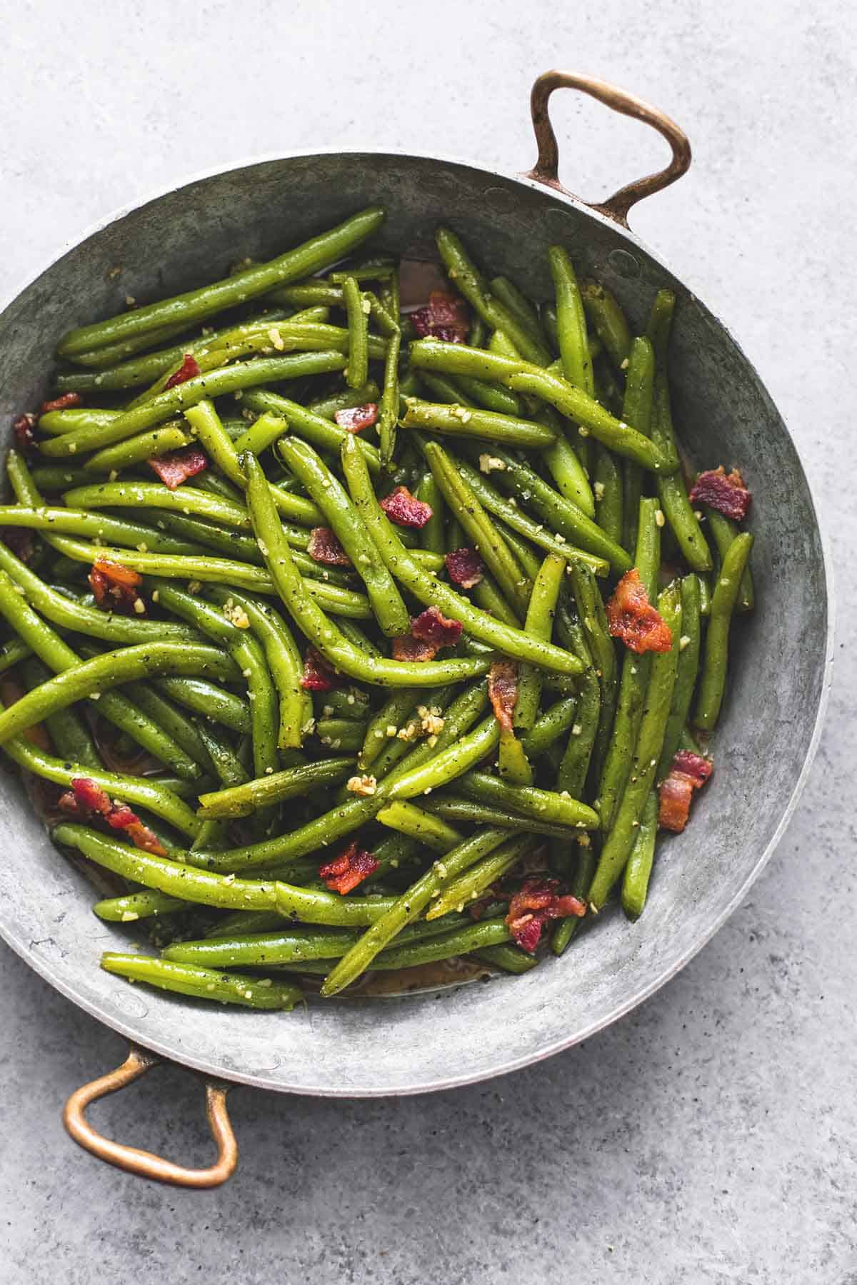 Brown Sugar Green Beans with Bacon | lecremedelacrumb.com
