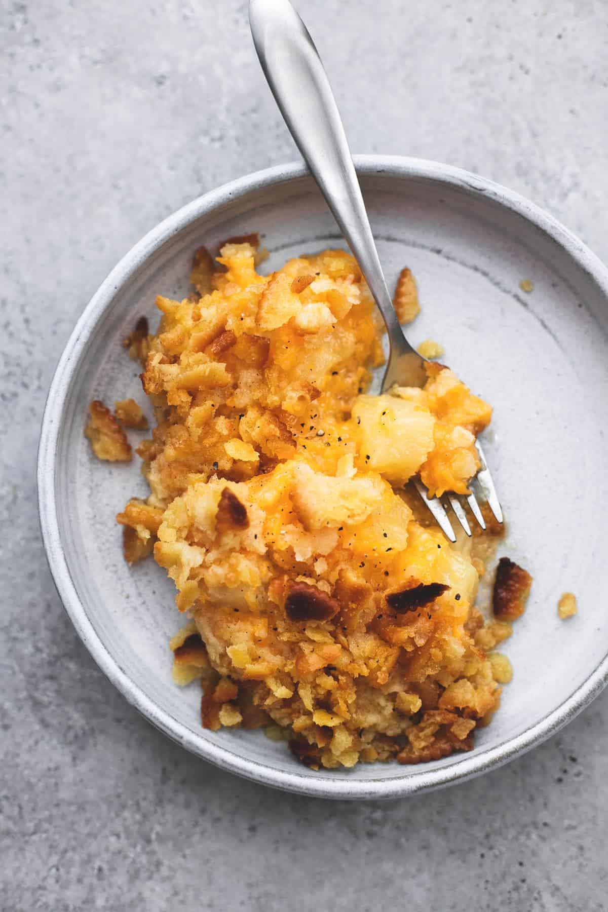 Baked Pineapple Casserole | lecremedelacrumb.com