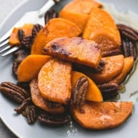 Baked Southern Candied Sweet Potatoes   lecremedelacrumb.com