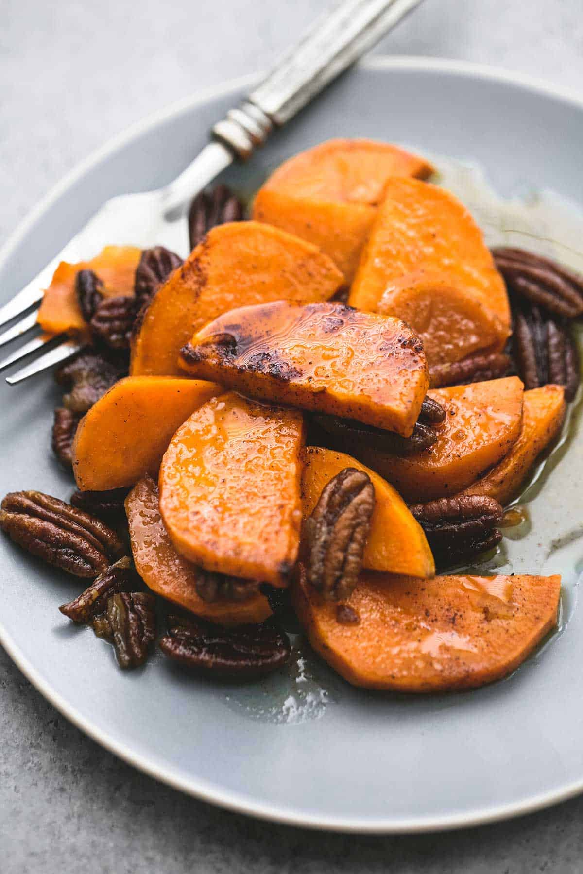 Sweet, caramelized baked southern candied sweet potatoes make the ...