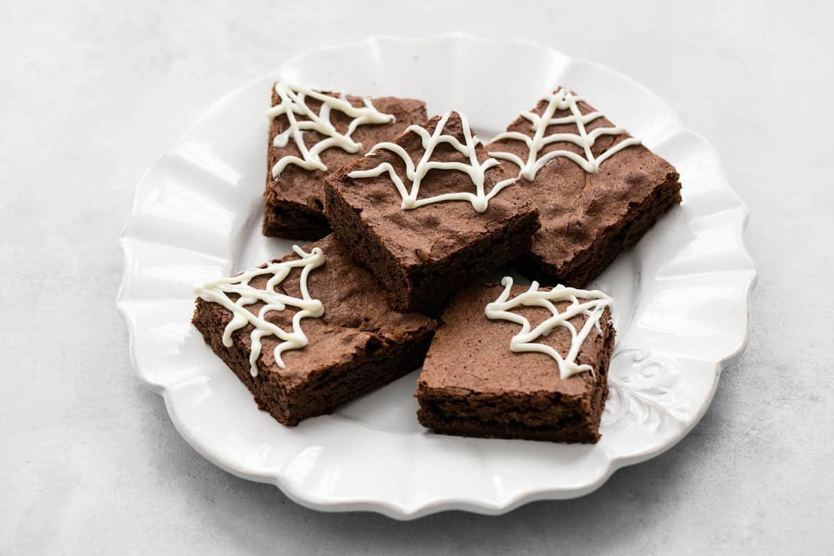 Spider Web Halloween Brownies