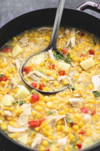 Leftover Turkey Corn Chowder | lecremedelacrumb.com