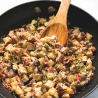 Garlic Herb Potato Hash   lecremedelacrumb.com