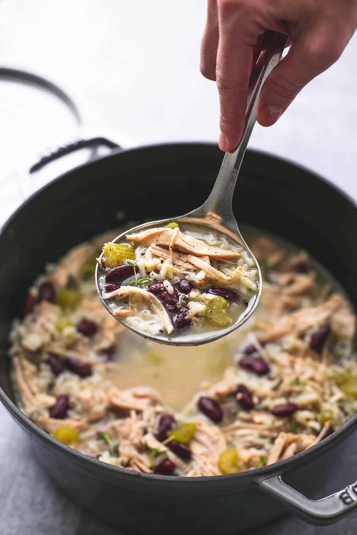 Healthy Turkey Wild Rice Soup | lecremedelacrumb.com
