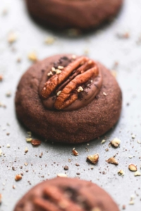 Turtle Thumbprint Cookies | lecremedelacrumb.com