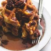 Cinnamon Sugar Biscuit Waffles (4 ingredients) | lecremedelacrumb.com