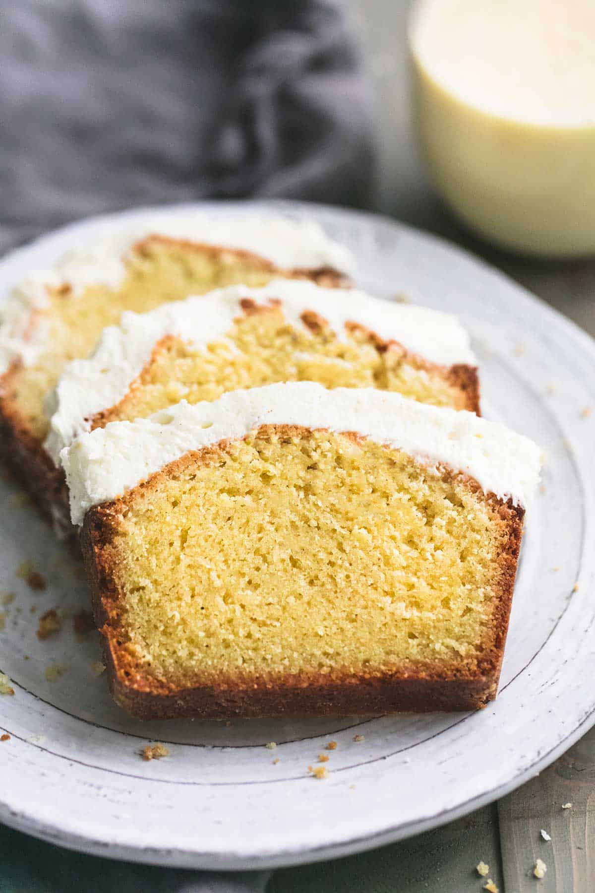 Eggnog Pound Cake | lecremedelacrumb.com