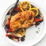 Baked Greek Chicken & Veggies Sheet Pan Dinner