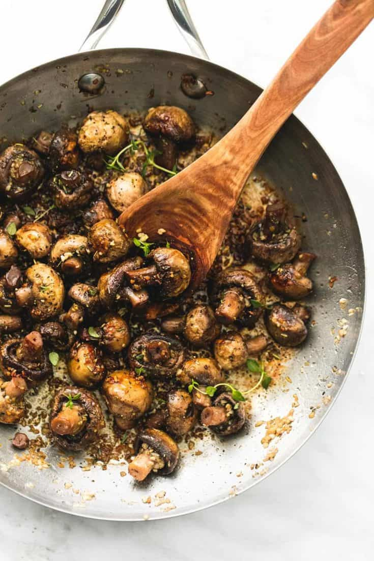 Sauteed Garlic Butter Mushrooms