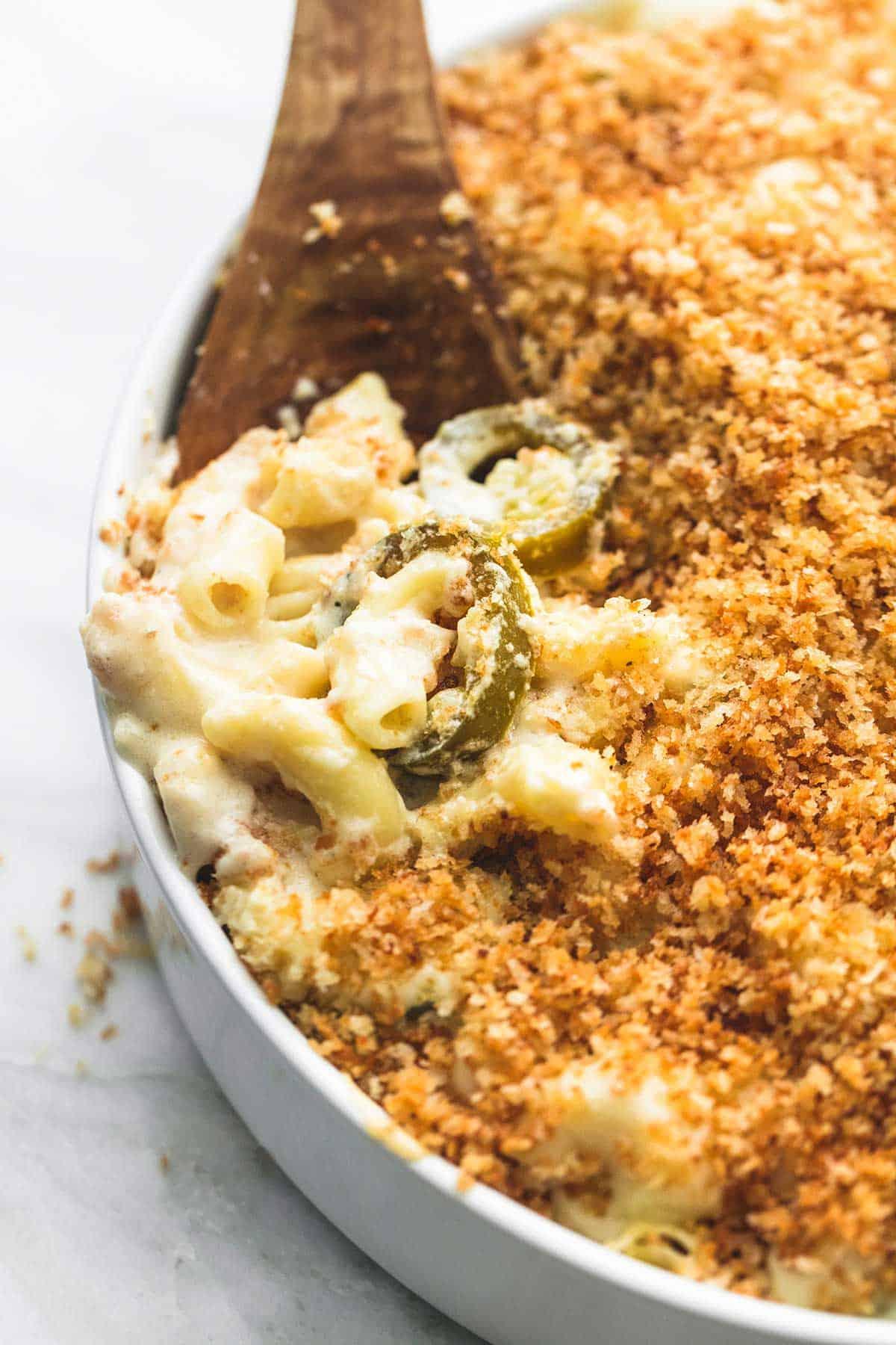 Baked Jalapeño Popper Macaroni & Cheese