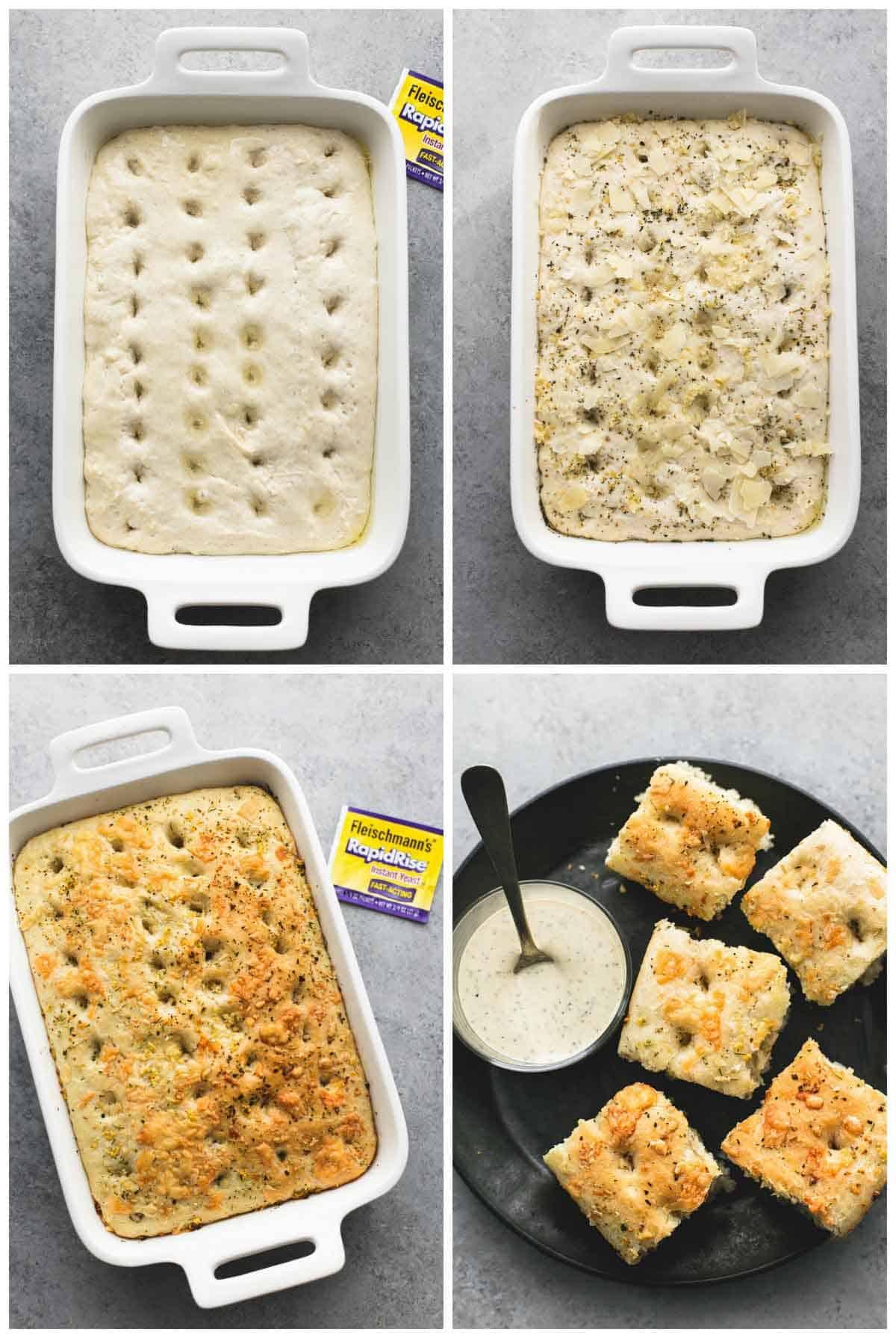 Easy Focaccia Bread | lecremedelacrumb.com