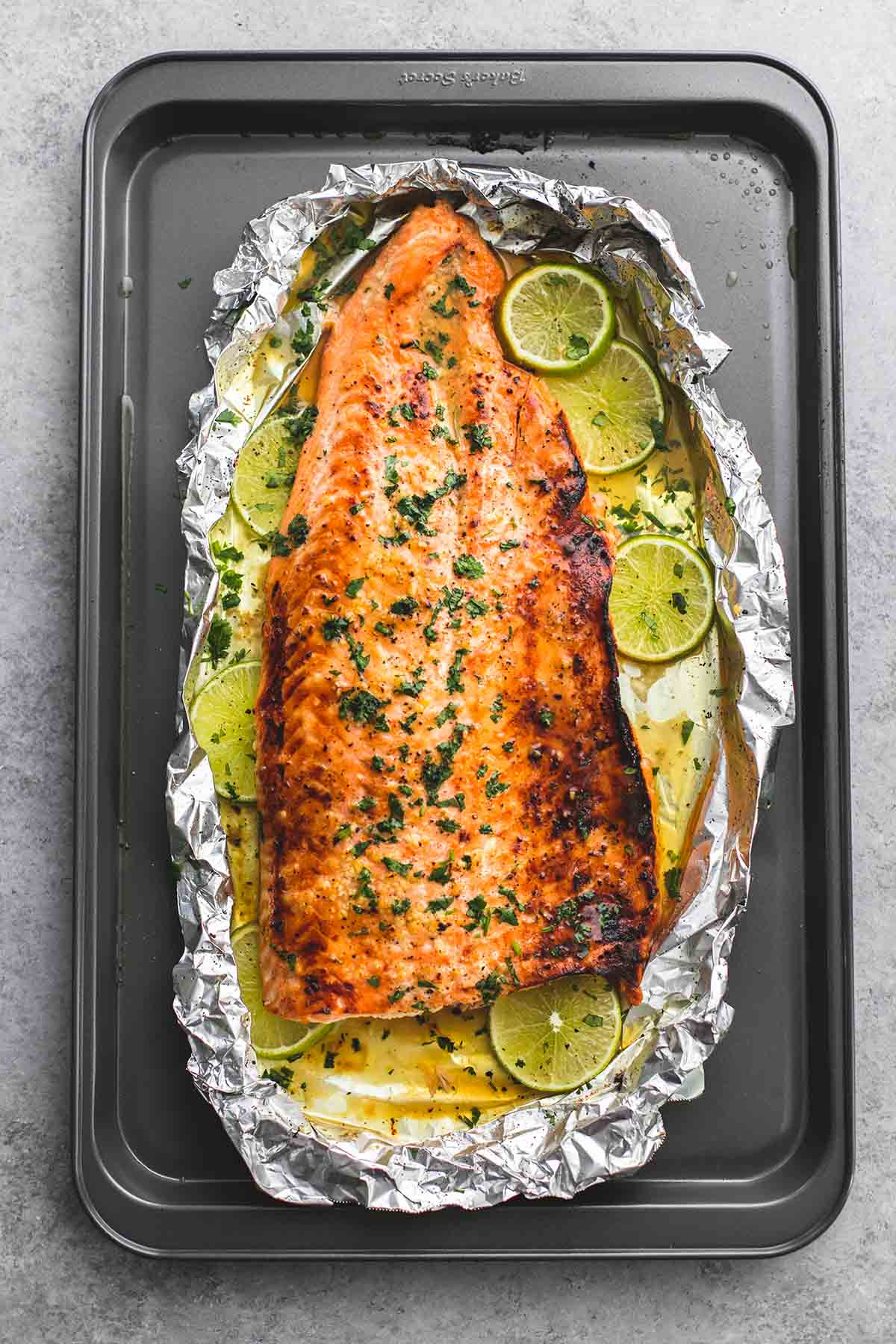 Baked Honey Cilantro Lime Salmon In Foil  Lecremedelacrumb