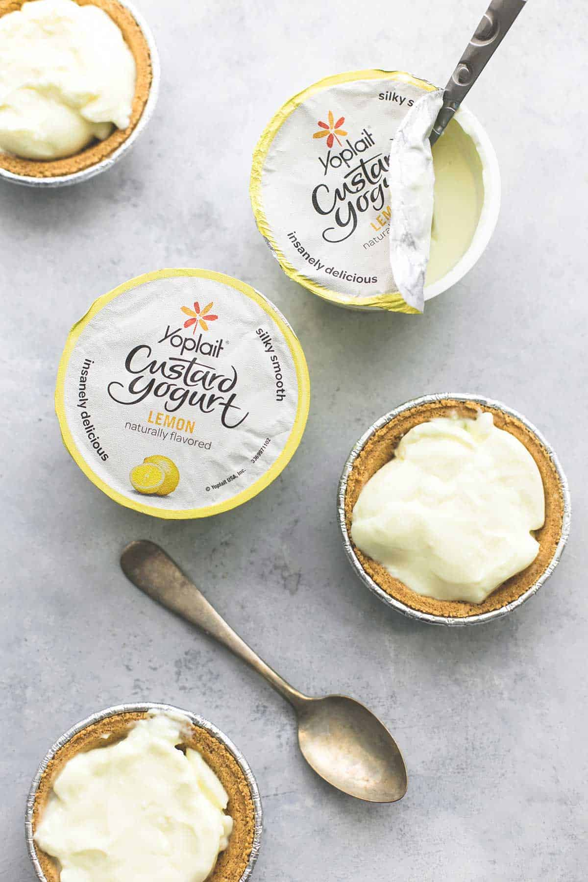 Lemon Custard Yogurt Mini Pies | lecremedelacrumb.com