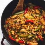 One Pot Cashew Chicken Ramen