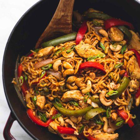 One Pot Cashew Chicken Ramen