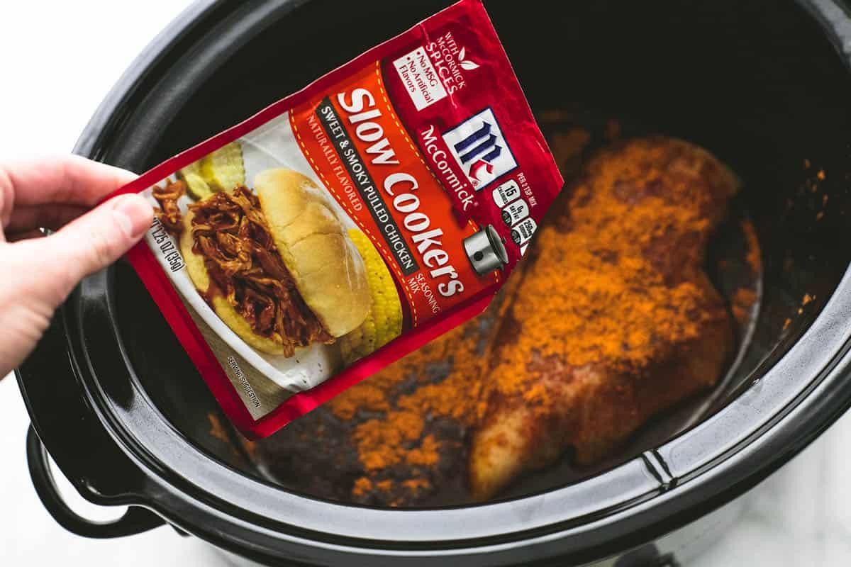 Slow Cooker BBQ Chicken Dip | lecremedelacrumb.com