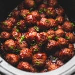 3 Ingredient Slow Cooker Sweet 'n Spicy Party Meatballs