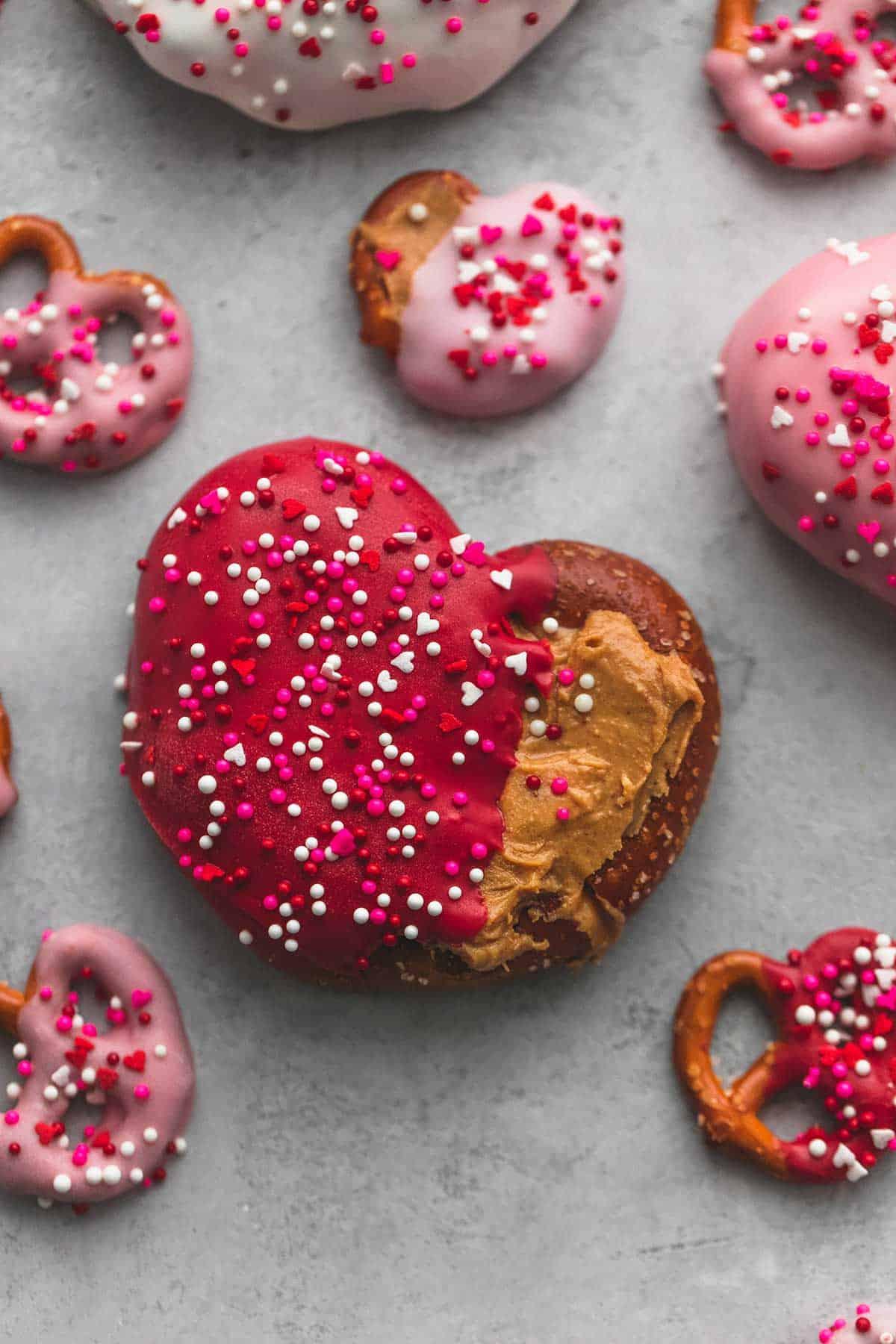 3 Ingredient Chocolate Peanut Butter Pretzel Hearts