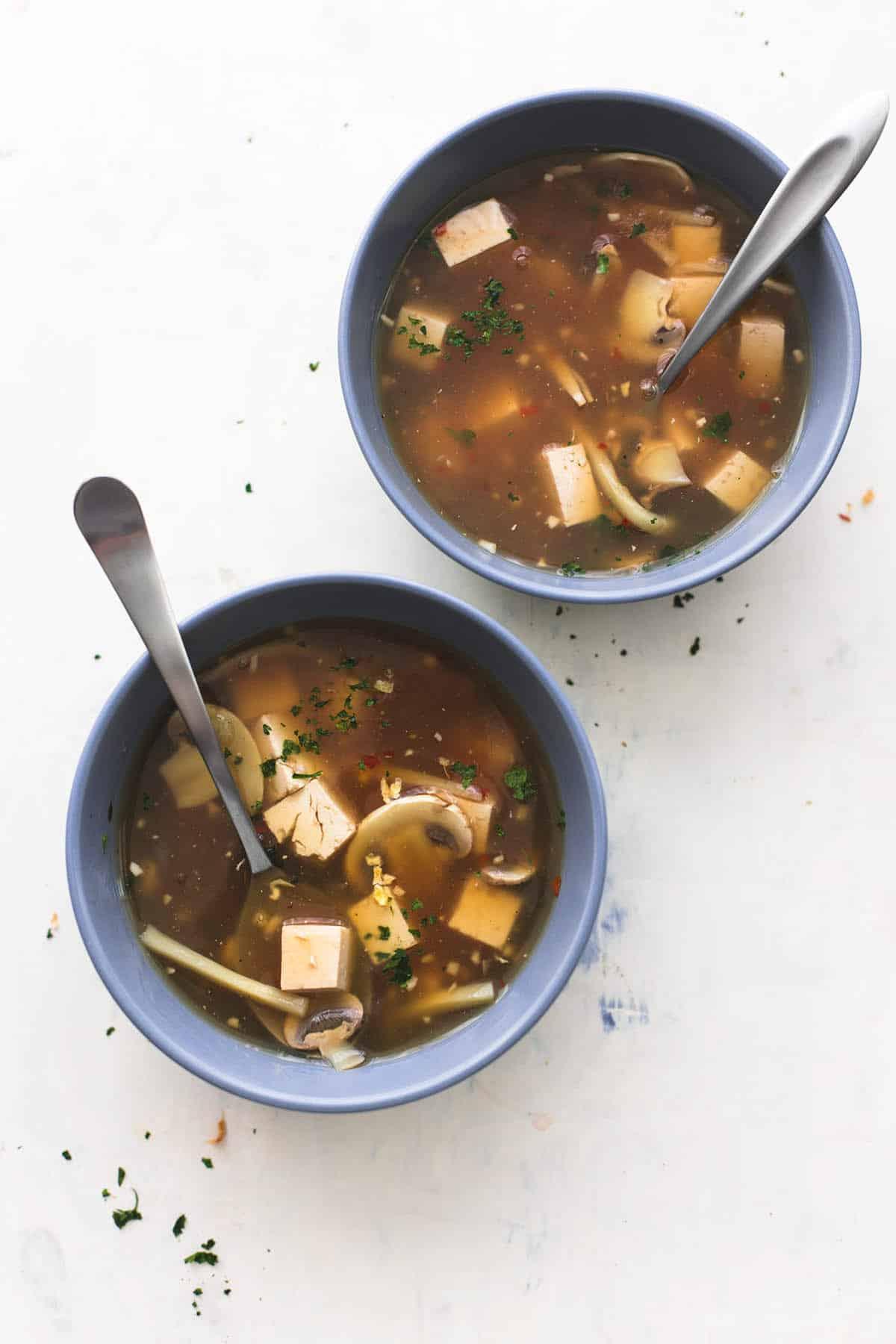 Hot & Sour Soup | lecremedelacrumb.com