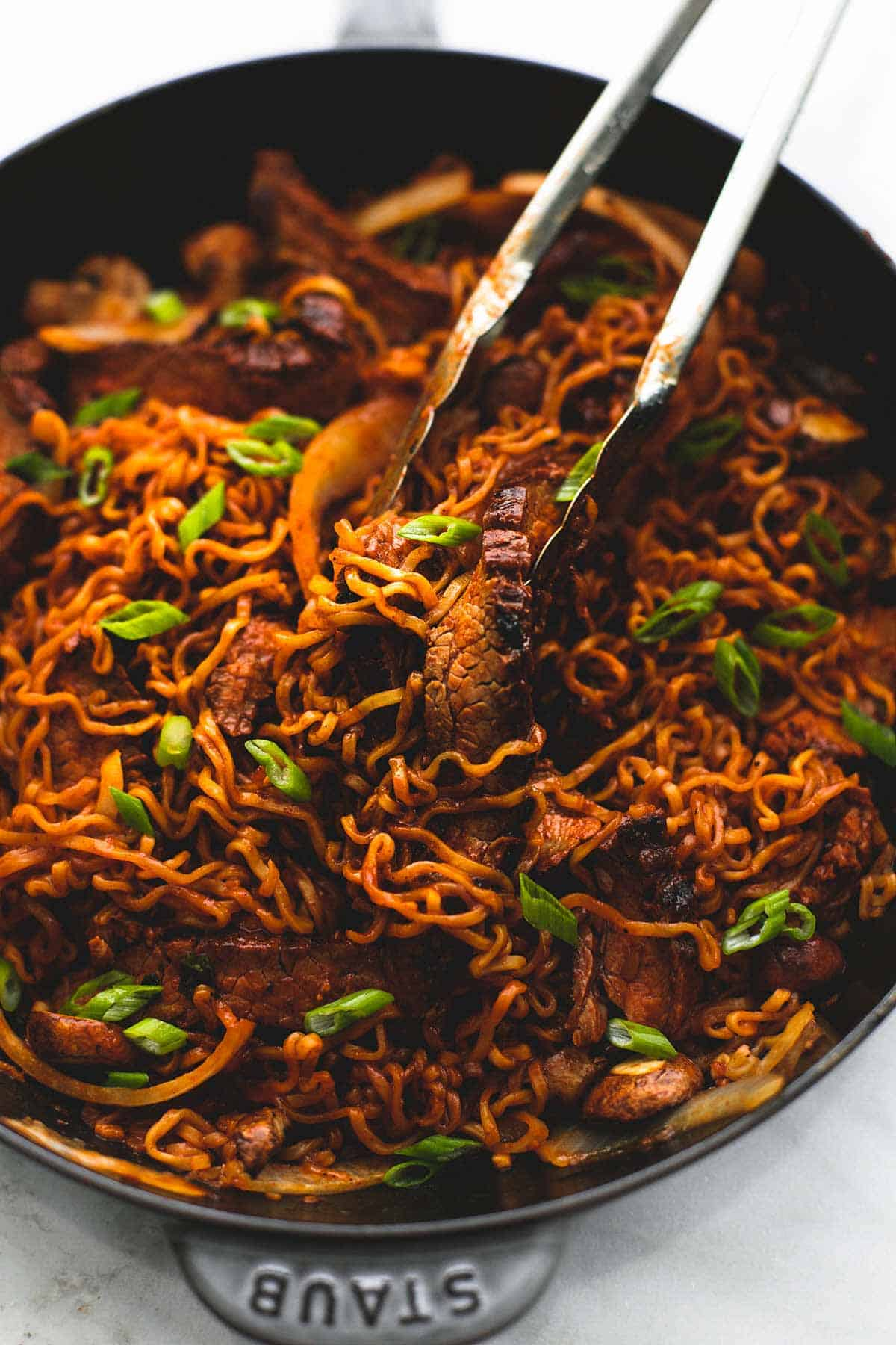 Spicy Korean Beef Noodles Creme De La Crumb