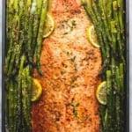 Baked Lemon Parmesan Salmon & Asparagus in Foil | lecremedelacrumb.com