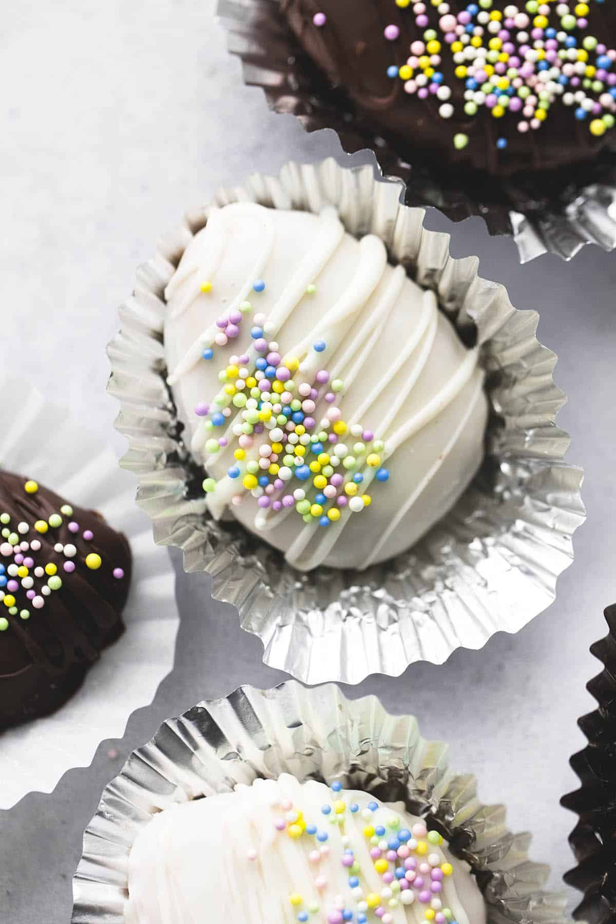 Copycat Reese's Creamy Peanut Butter Eggs | lecremedelacrumb.com