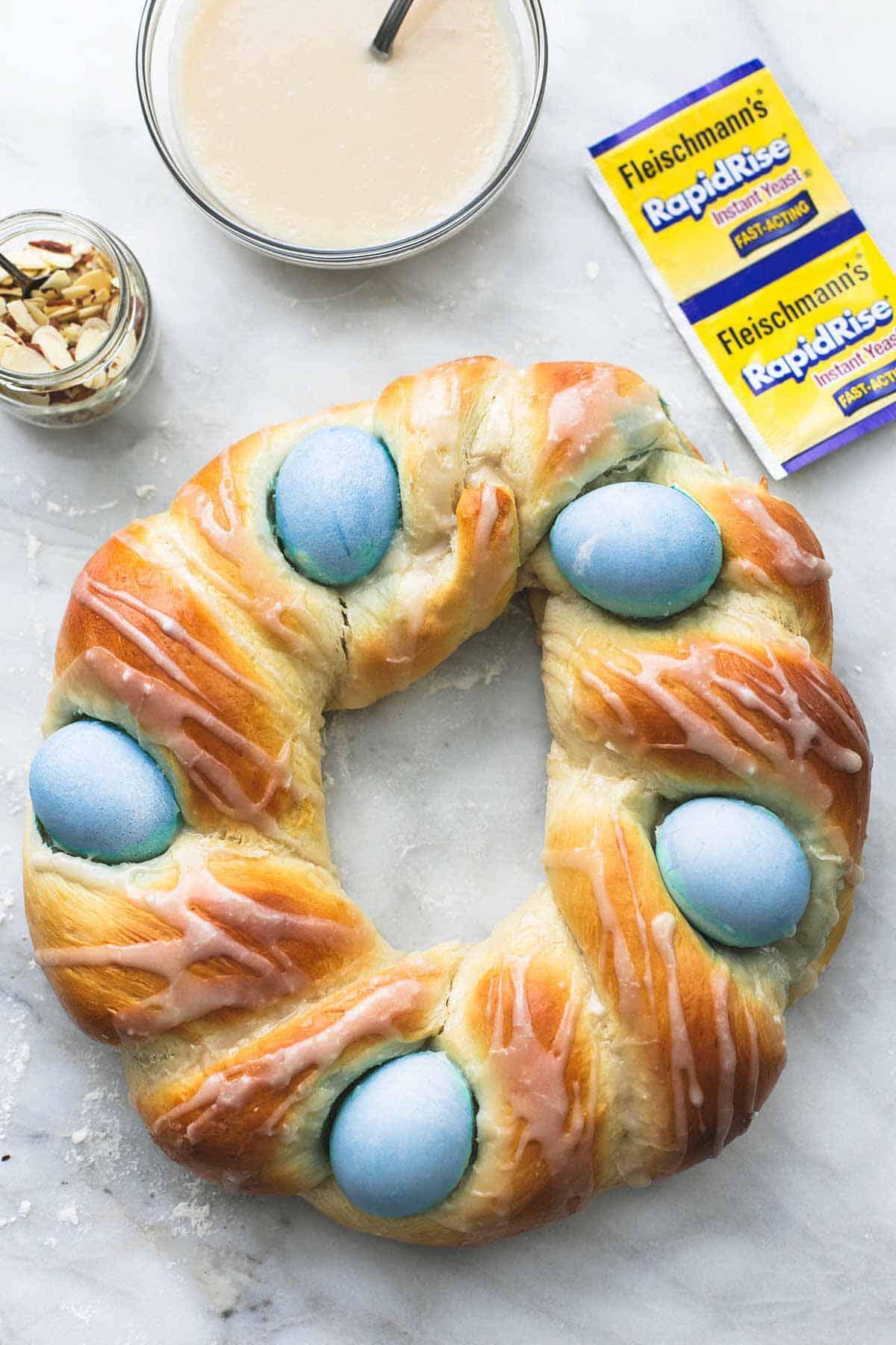 Almond Ring Easter Nest   lecremedelacrumb.com