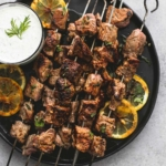 Beef Souvlaki Kebabs with Tzatziki Sauce
