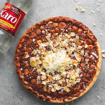 Caramel Coconut Macadamia Nut Pie | lecremedelarumb.com